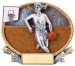 3D Oval Basketball F 3D Oval Resin Trophy Awards