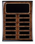 Burl Piano Finish Perpetual Plaque Achievement Awards