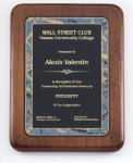 Walnut Corporate Plaque Achievement Awards