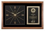 Walnut Wall Clock Plaque Achievement Awards