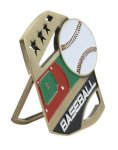 Baseball Color Medal Free Standing Or With Ribbon All Trophy Awards