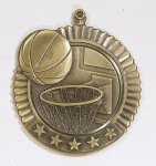 Star Basketball Medals Basketball Trophy Awards