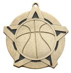 Basketball Super Star Medal  Gold Basketball Trophy Awards