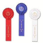 Classic Single Streamer Rosette Award Ribbon Bowling Trophy Awards