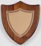 Walnut Shield Corporate Plaque Employee Awards