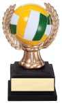 Wreath Sport Ball Volleyball Full Color Wreath Resin Trophy Awards