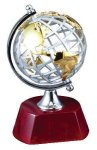 World Globe on Rosewood Base Globe Cast Awards