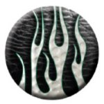 Ball Marker Black Flames Golf Awards
