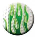 Ball Marker Green Flames Golf Awards