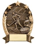 5 Star Oval Hockey Hockey Trophy Awards