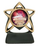 Star Resin Mylar Holder Soccer Trophy Awards