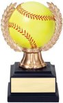 Wreath Sport Ball Softball Softball Trophy Awards