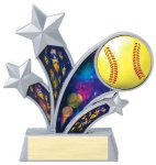 Rising Star Softball Star Resin Softball Trophy Awards