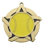 Softball Super Star Medal Gold Softball Trophy Awards
