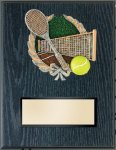 Tennis Resin Plaque Mount Award Teamwork Trophy Awards