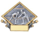 Resin Diamond Plate Wrestling Wrestling Trophy Awards